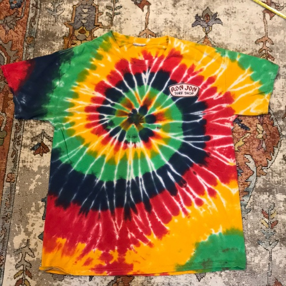 dea66dc2a VINTAGE RON JON SURF SHOP TIE DYED T-SHIRT MENS L